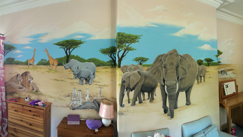 African Safari Mural