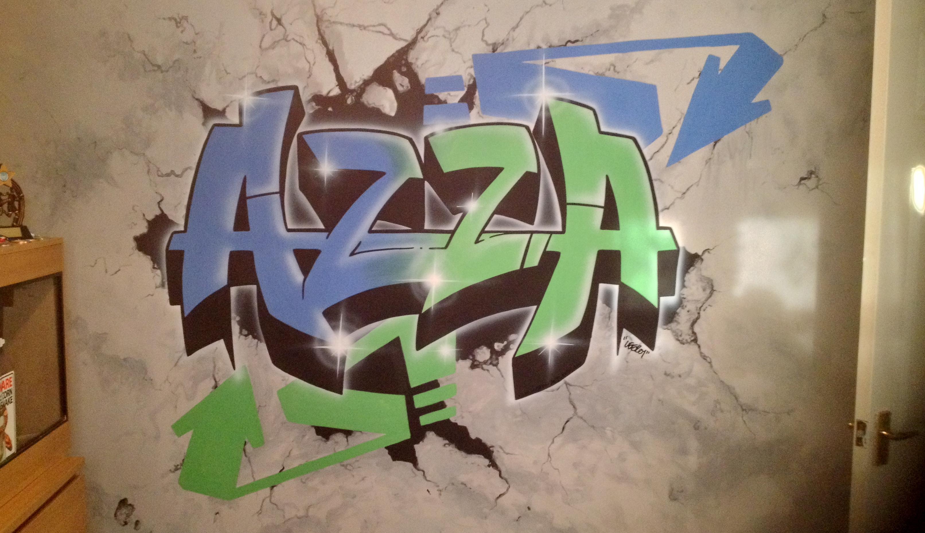 Azza Custom Graffiti