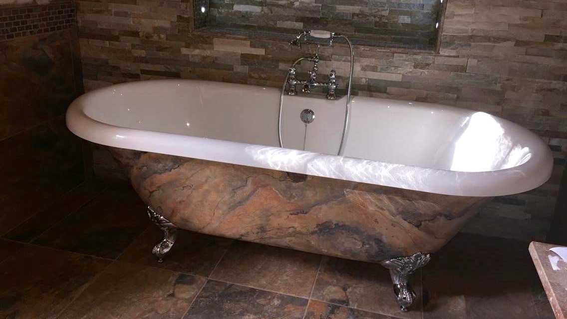 Faux Finish Stone Bathtub