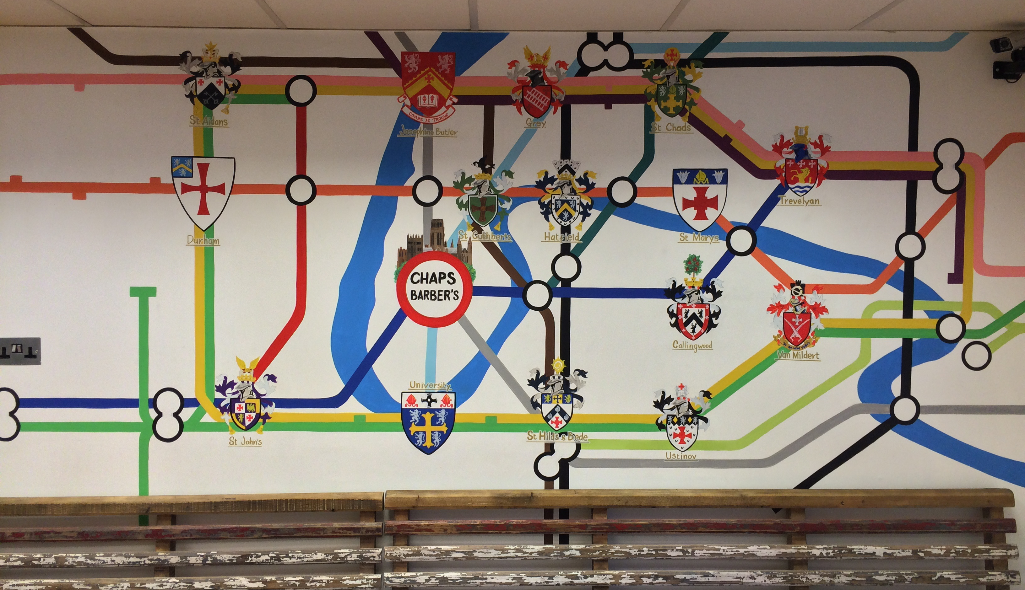 Tube Map Mural - Durham Universities
