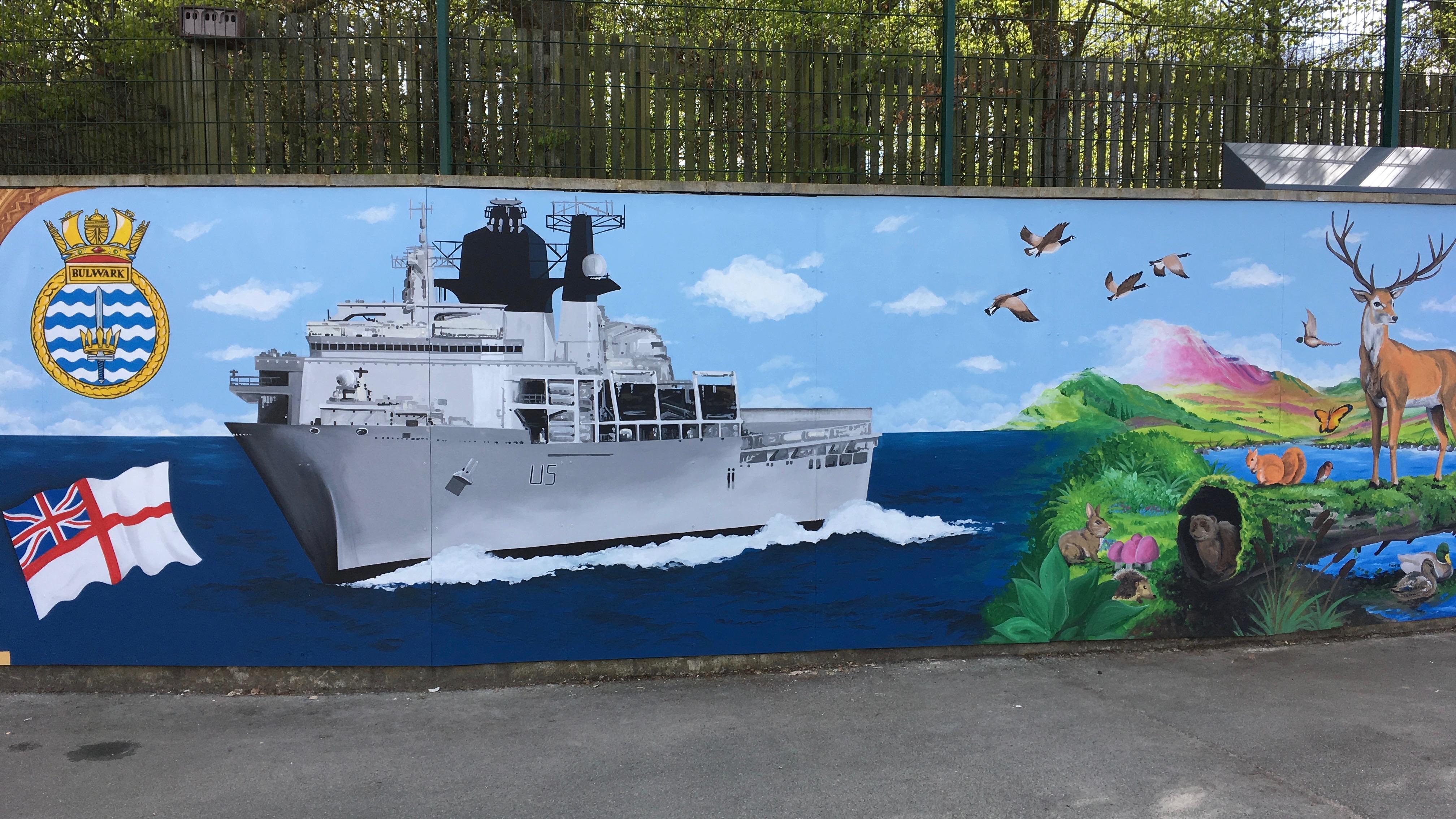 Durham Trinity School Mural 2