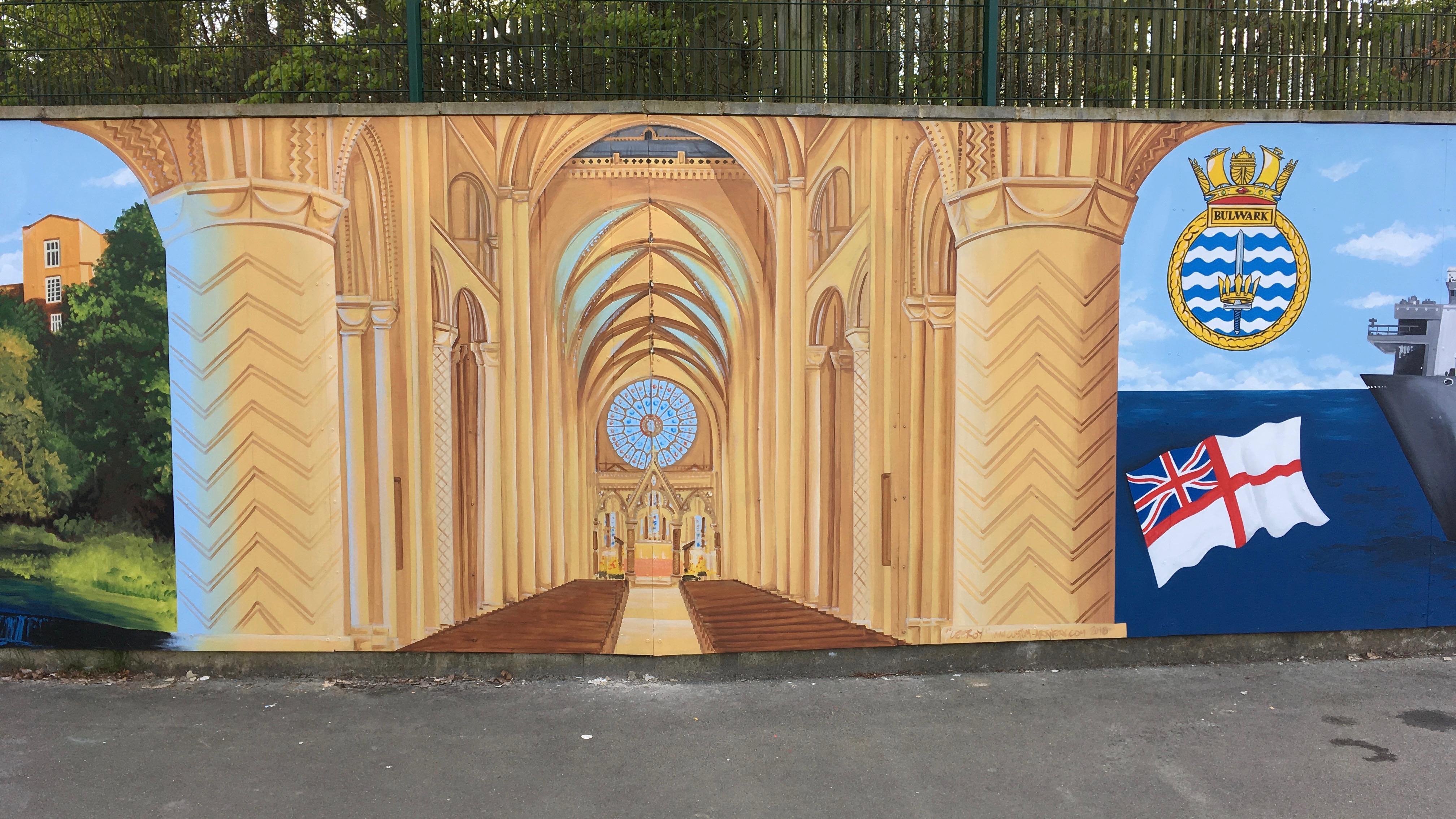 Durham Trinity School Mural 3