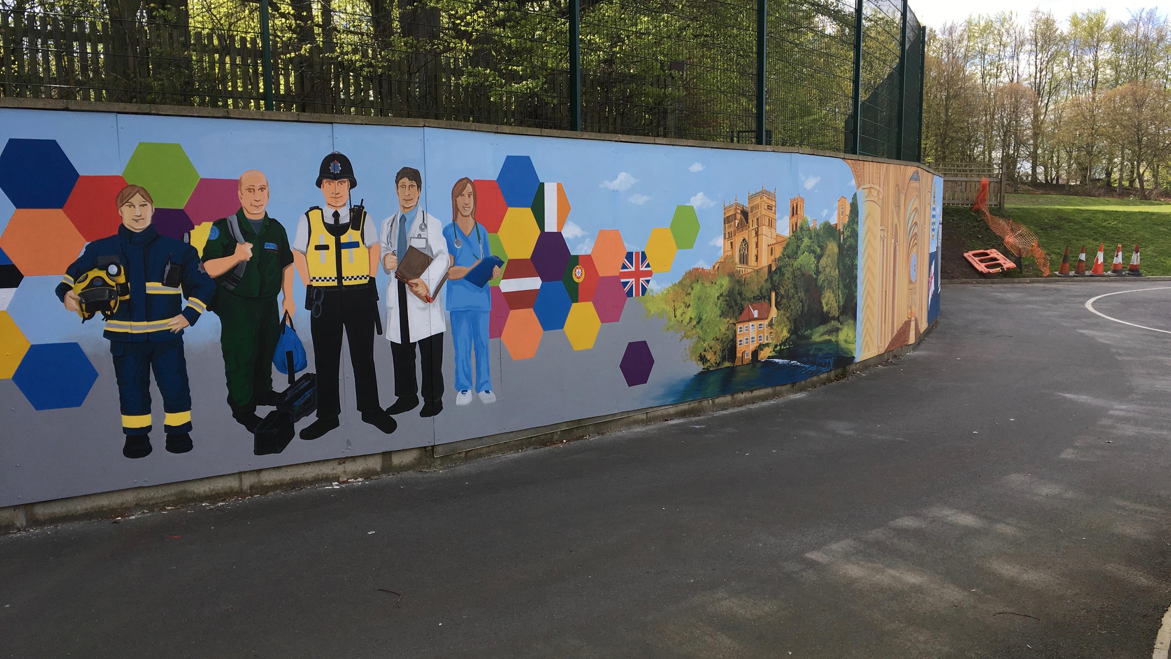 Durham Trinity School Mural 5