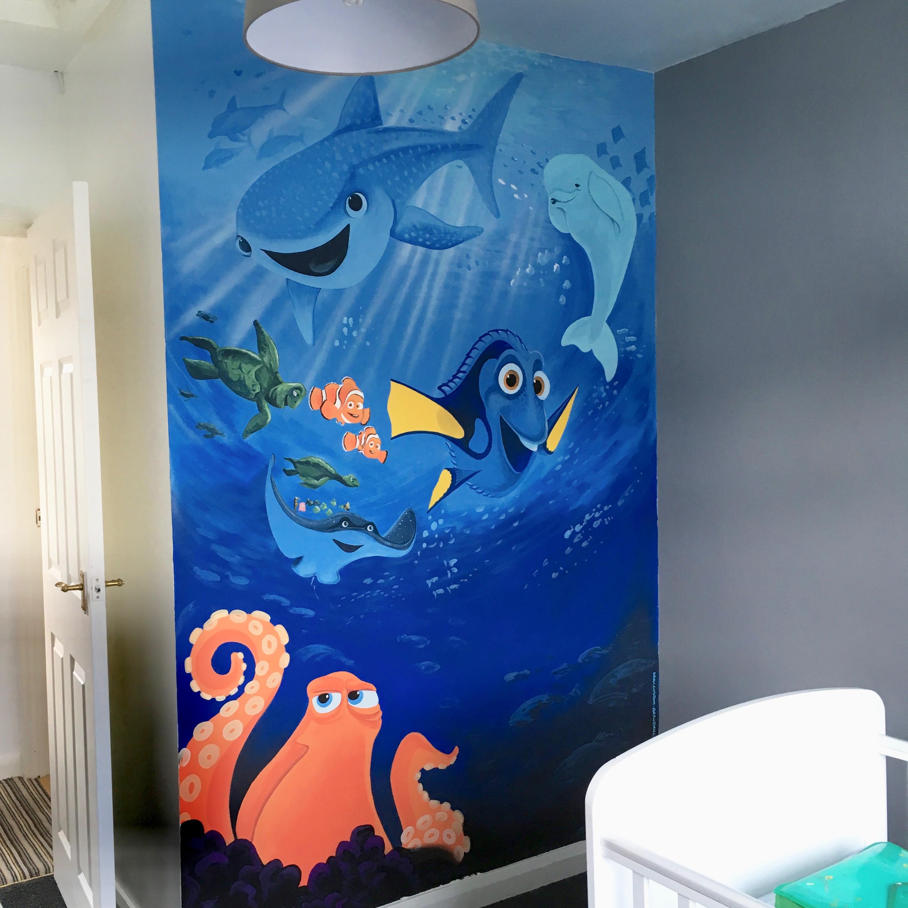 Finding Dory Nursery Mural