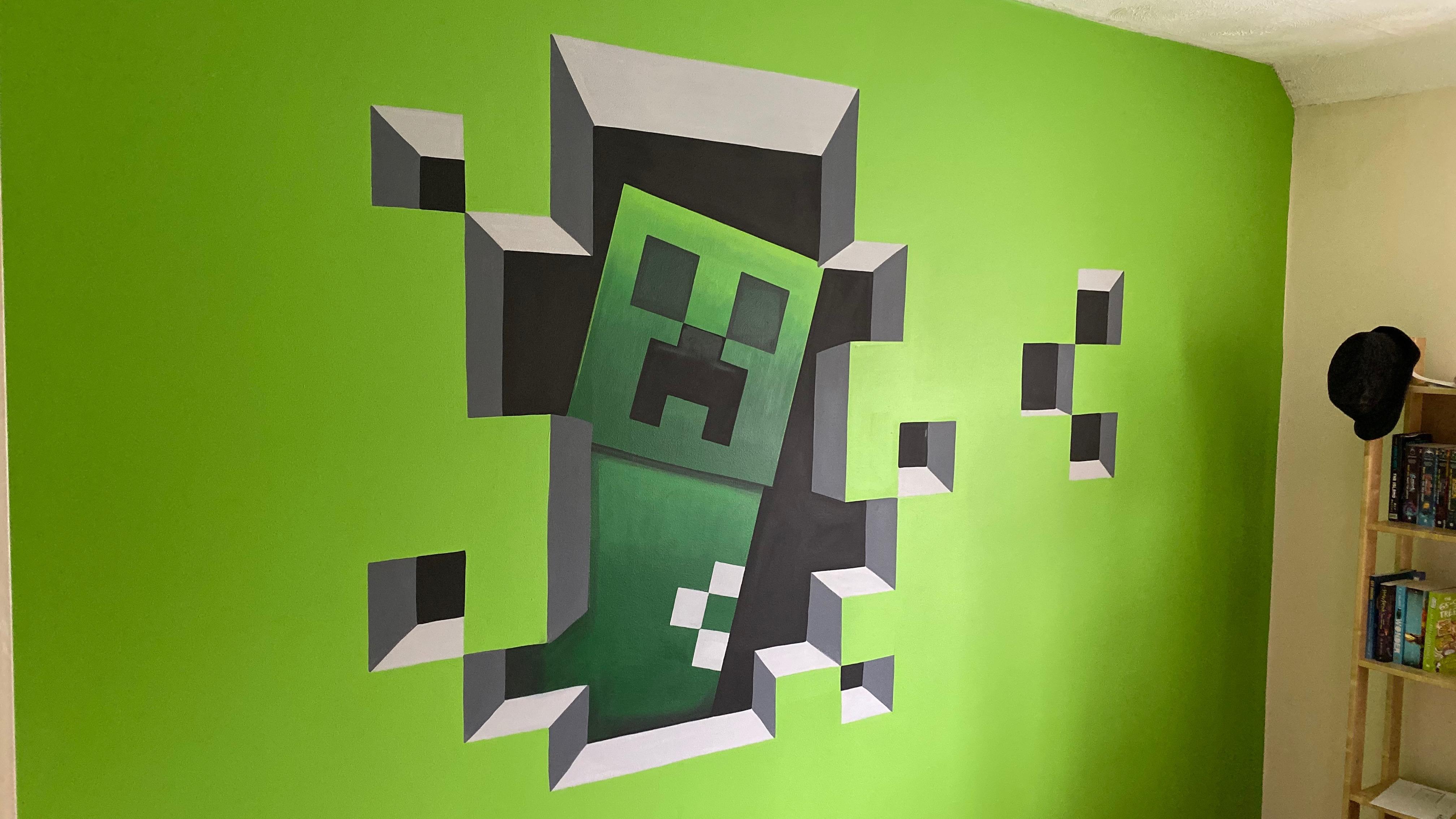 Minecraft Creeper Mural
