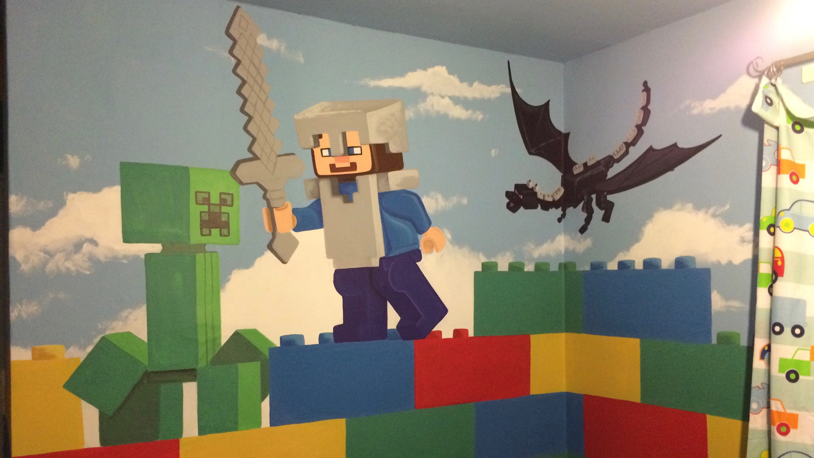 Lego Minecraft Room Mural