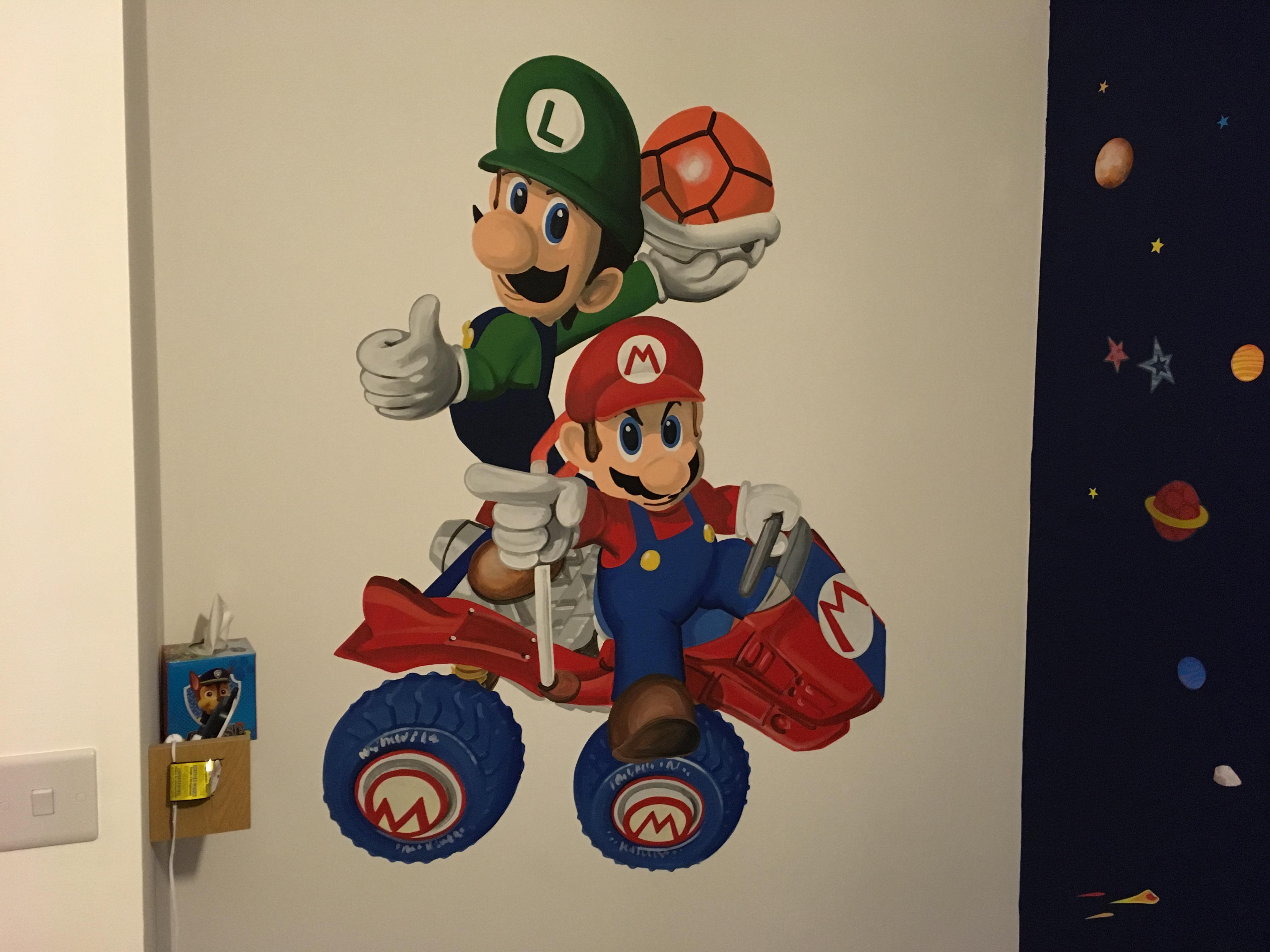 Mario & Luigi Mural