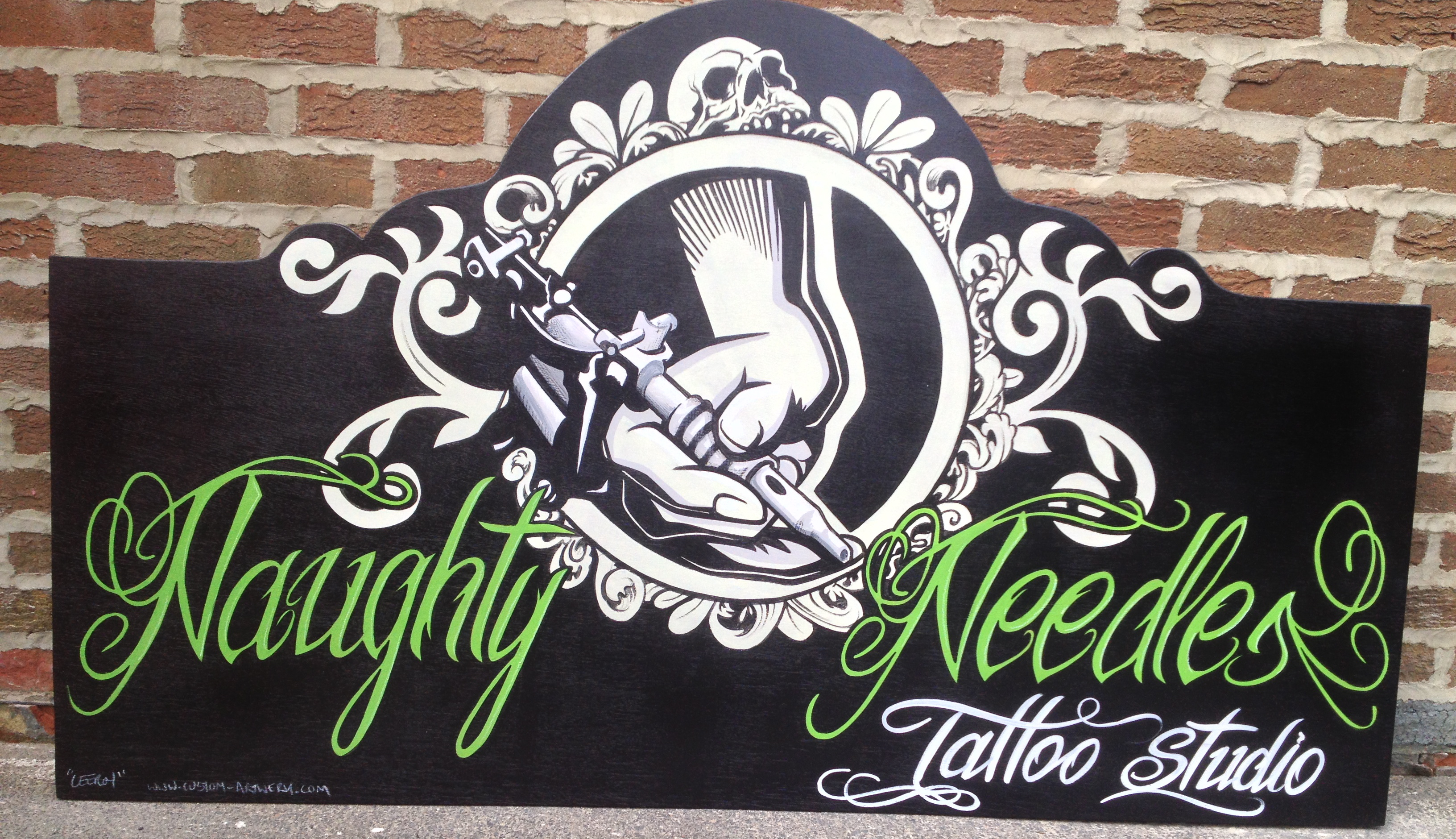 Naughty Needles Studio Sign
