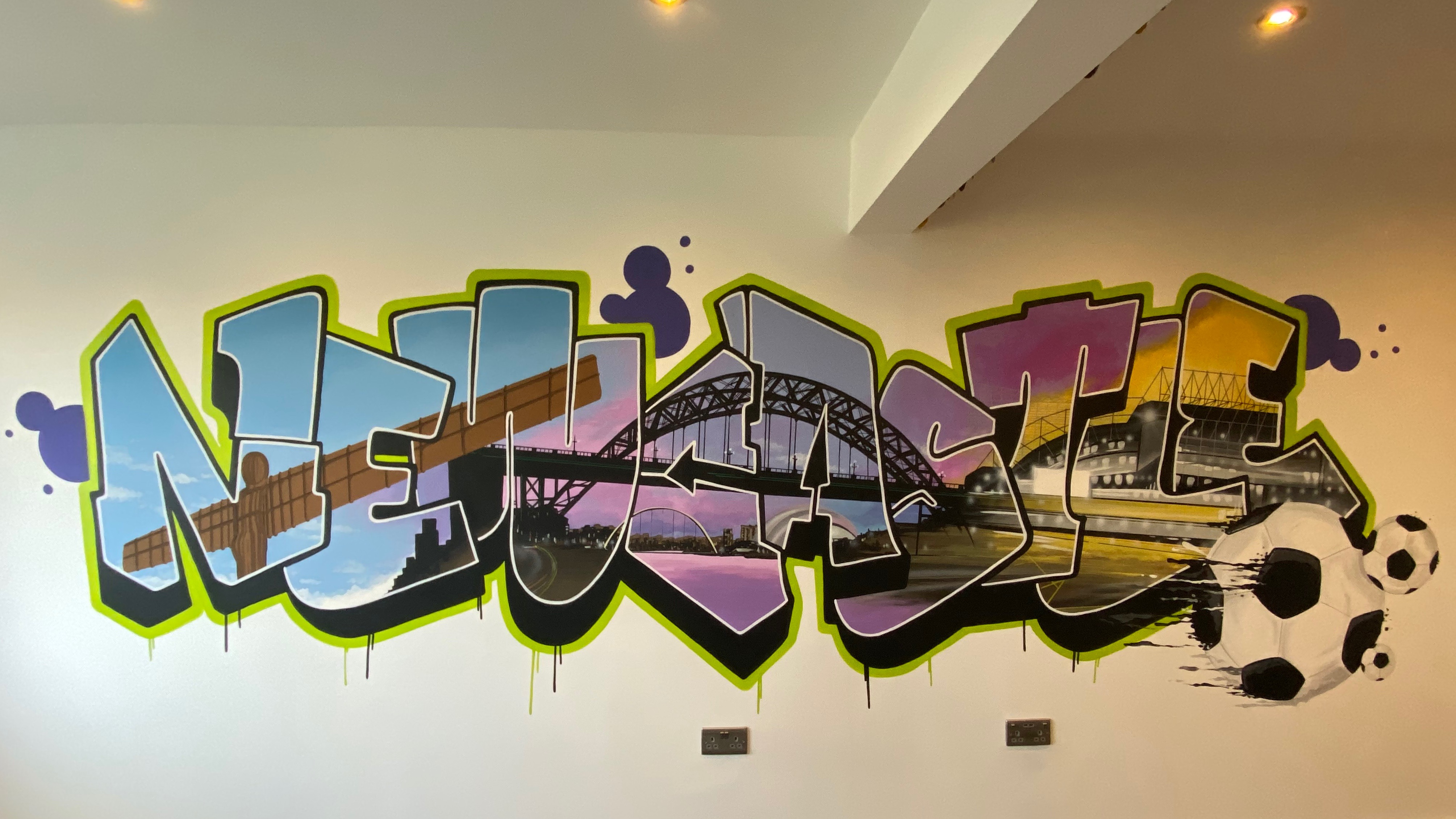 Newcastle In Graffiti