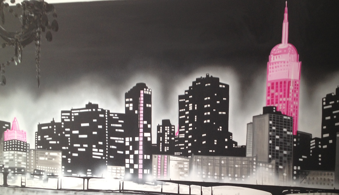 Murals custom artwerk for Cityscape mural