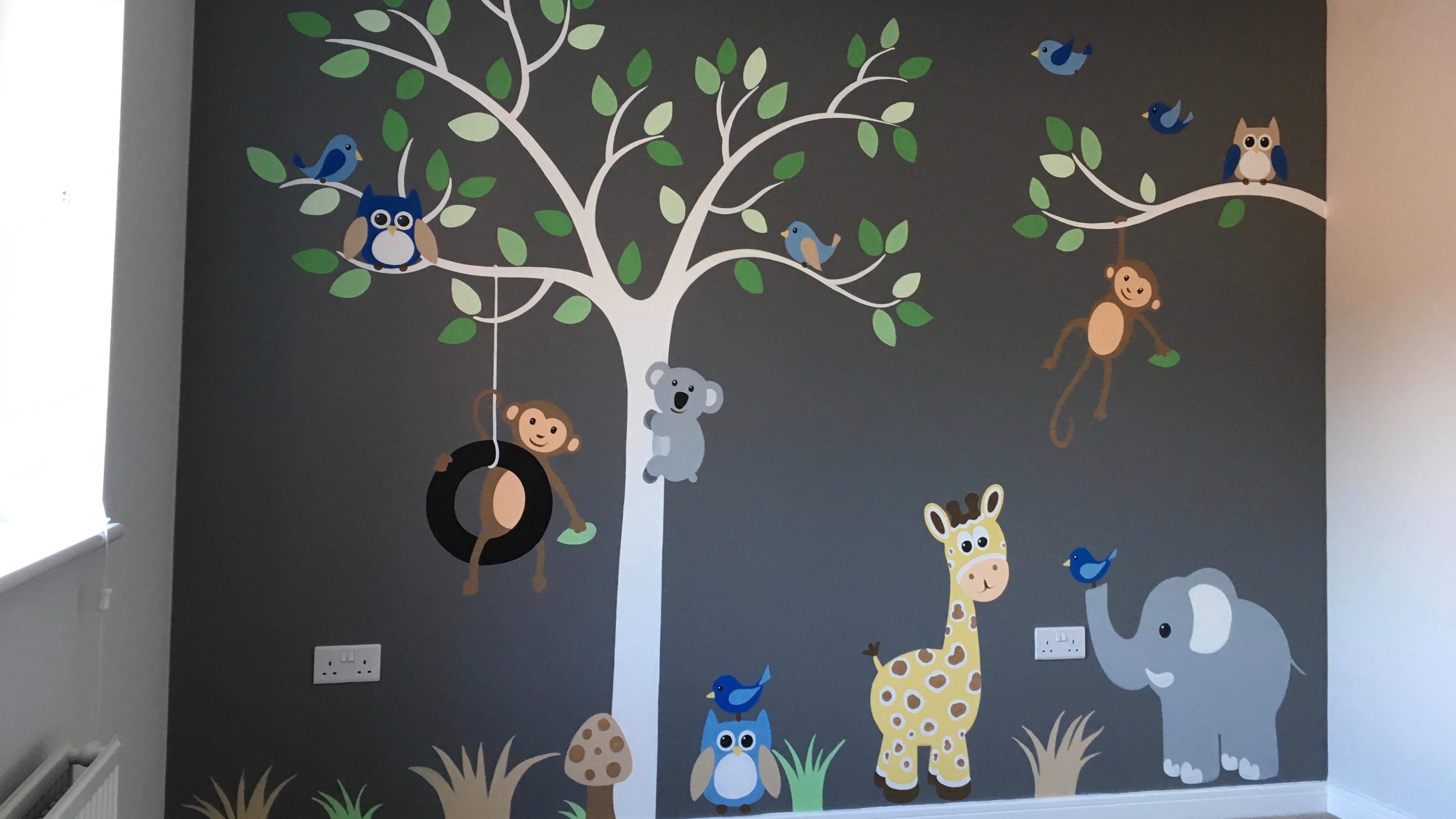 Nursery Tree with animals