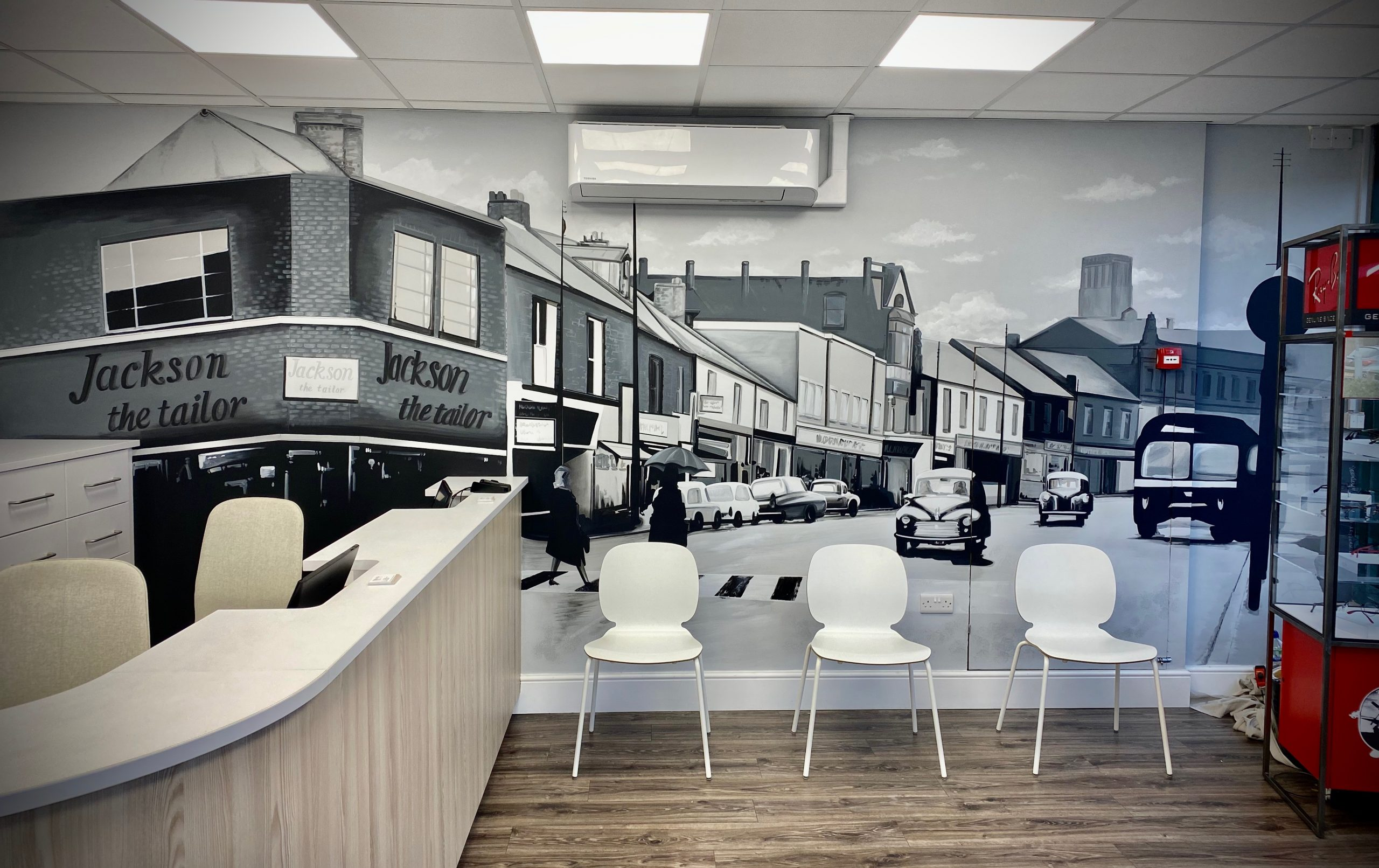 Youngs Opticians Stanley Feature wall
