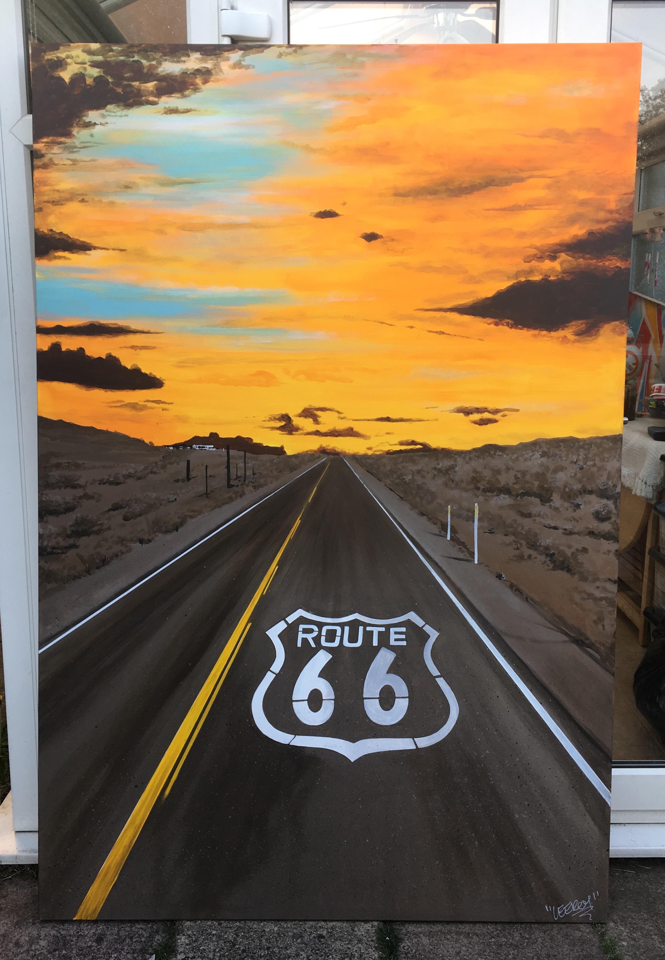 Route 66 Canvas 6'x4'