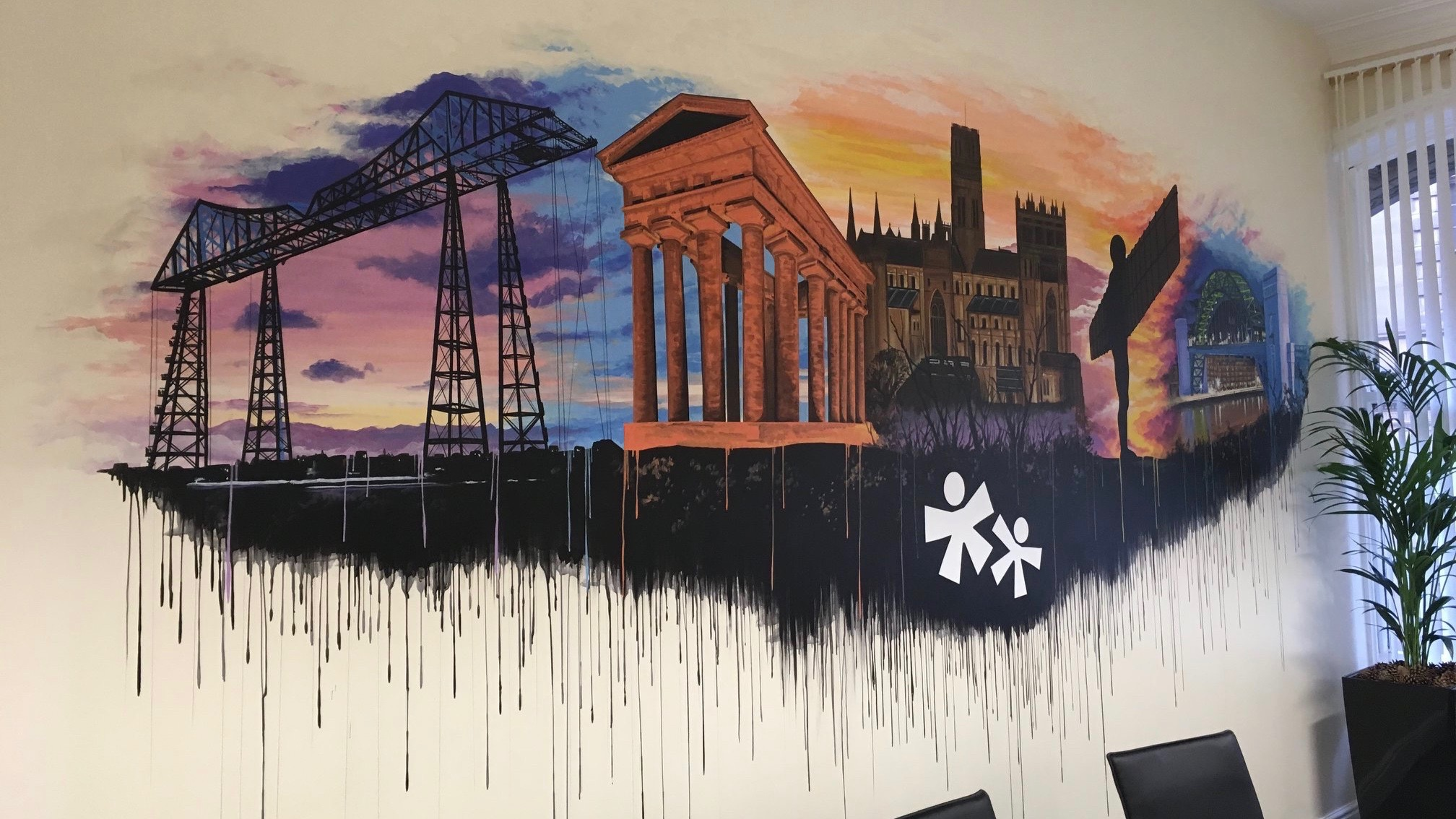Sellick Partnership NE Landmarks mural 1