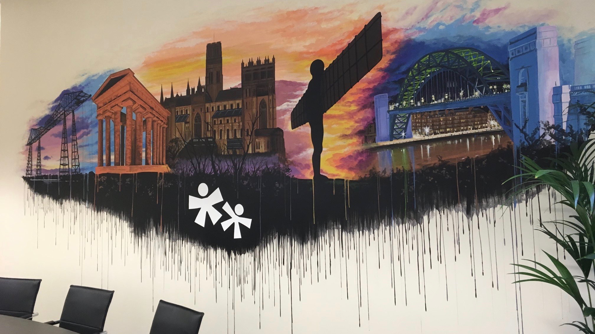 Sellick Partnership NE Landmarks mural 2