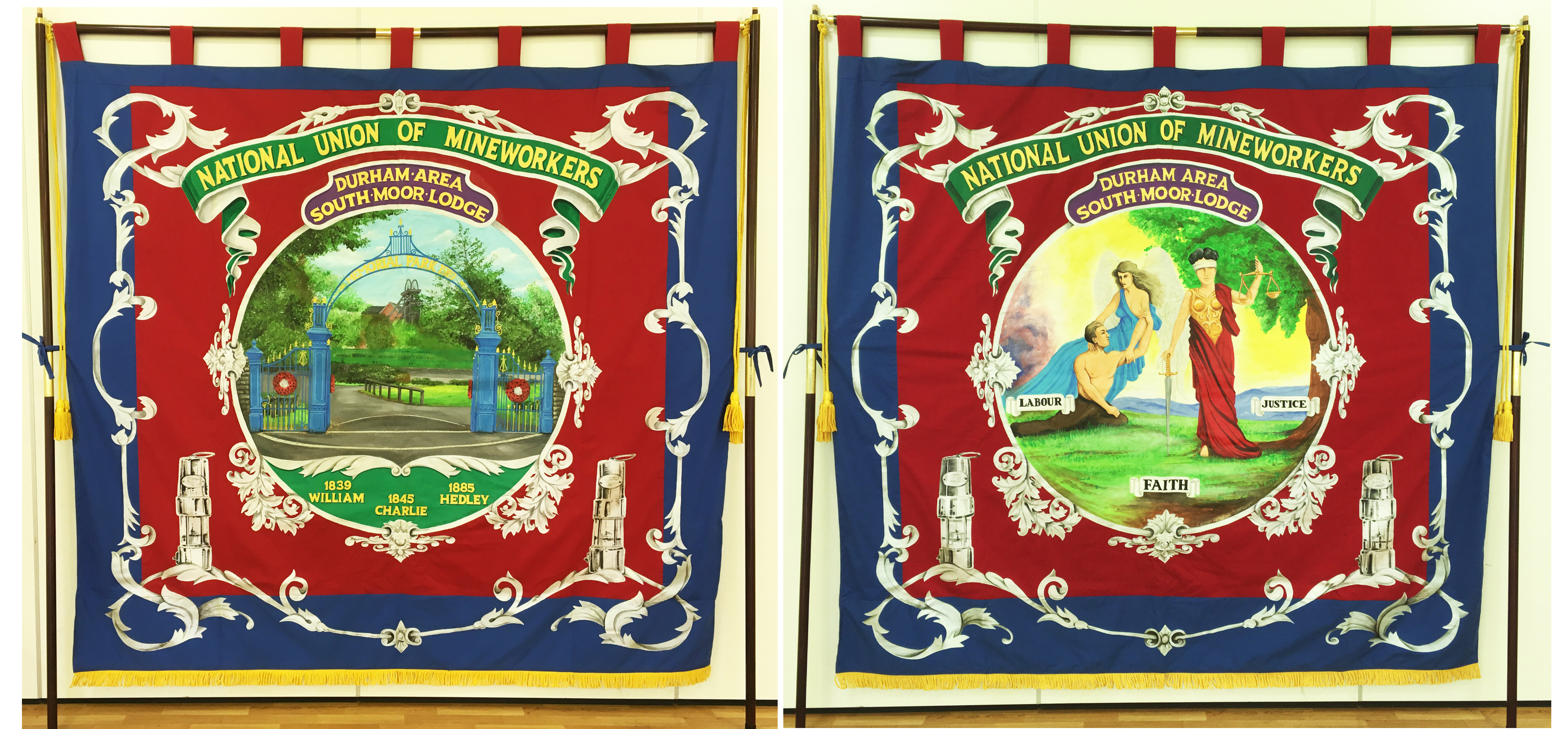New South Moor Lodge Banner / Durham Gala 2017