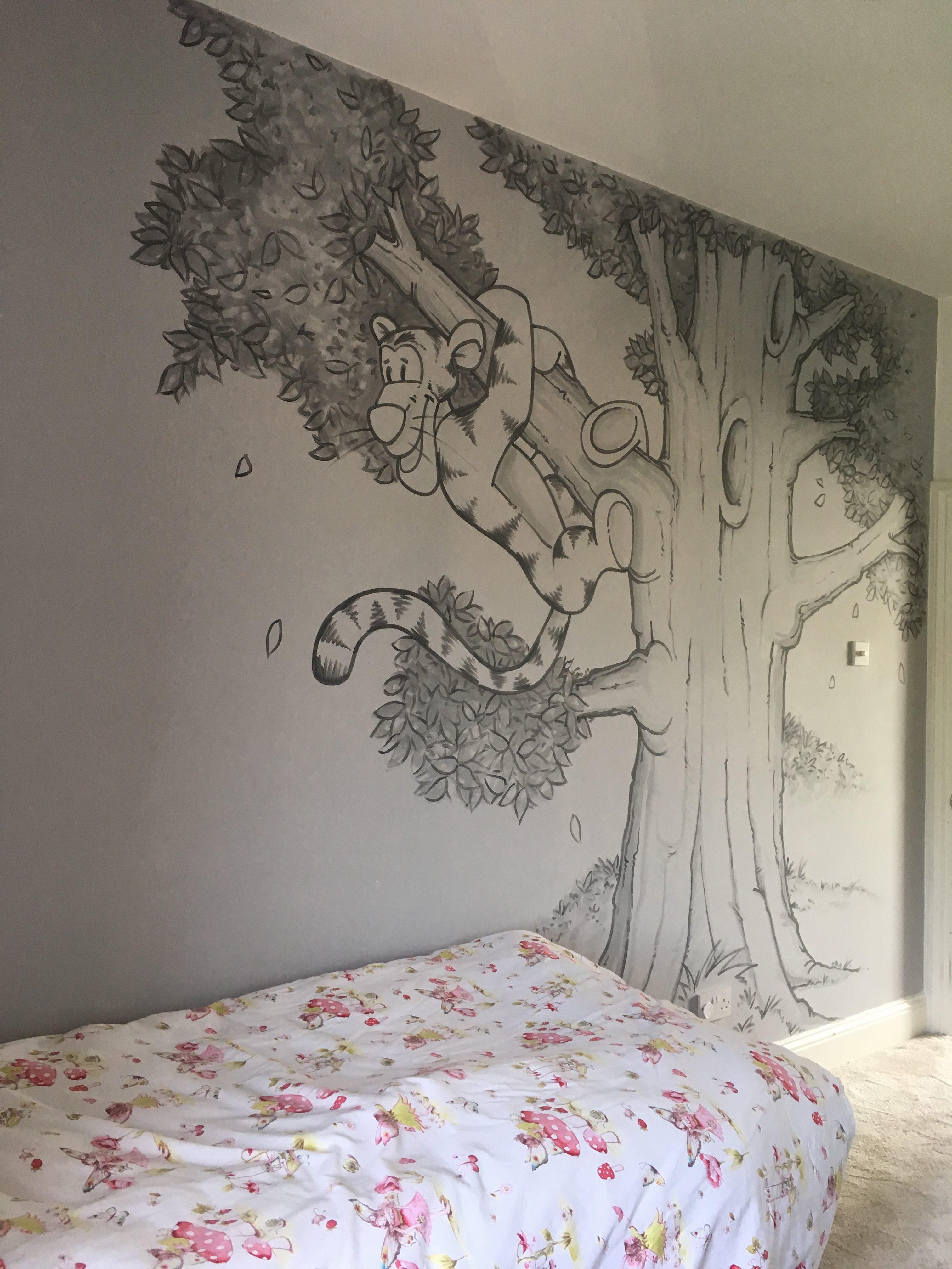 Tigger in Tree Mural