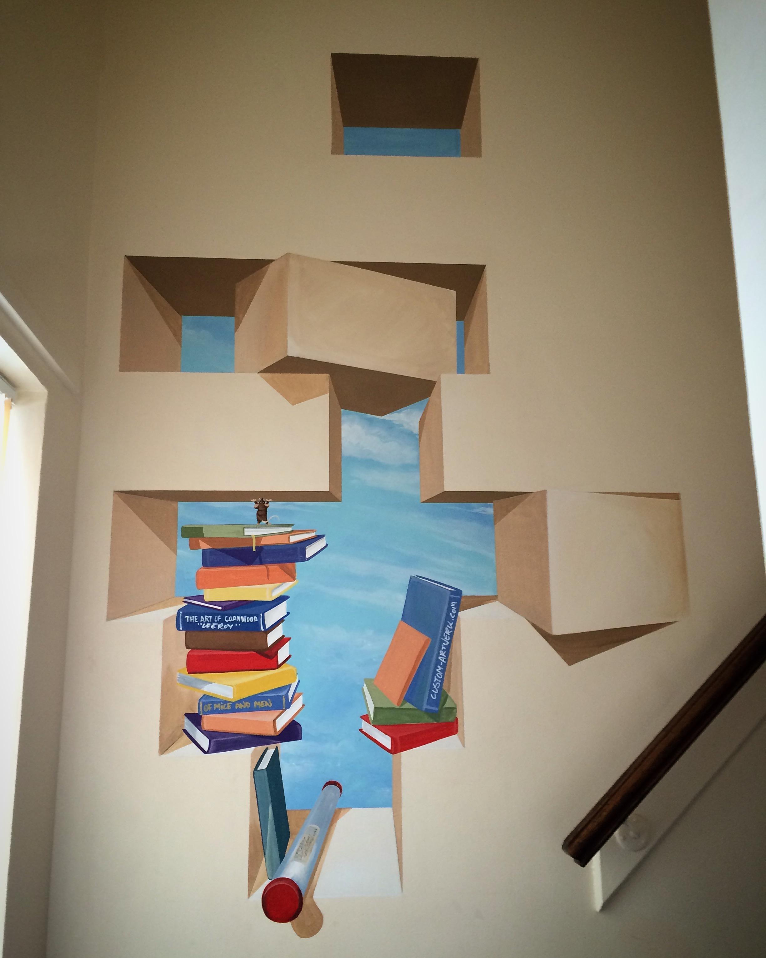 Stairwell Trompe l'oeil