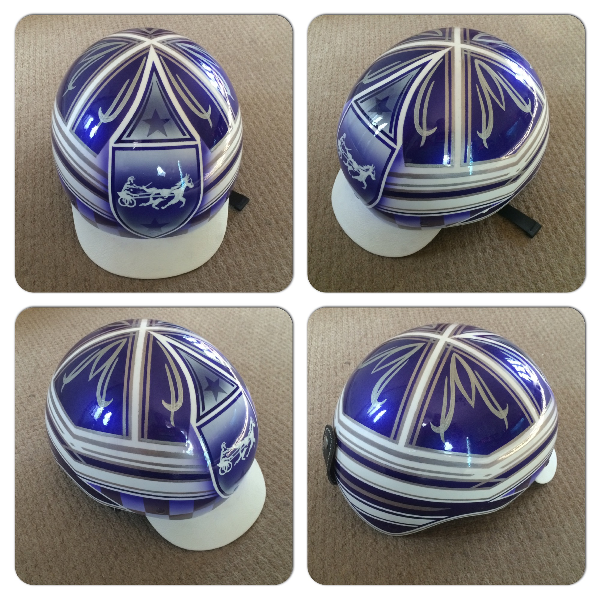 Custom Painted Trotting / Trap Racing Helmet