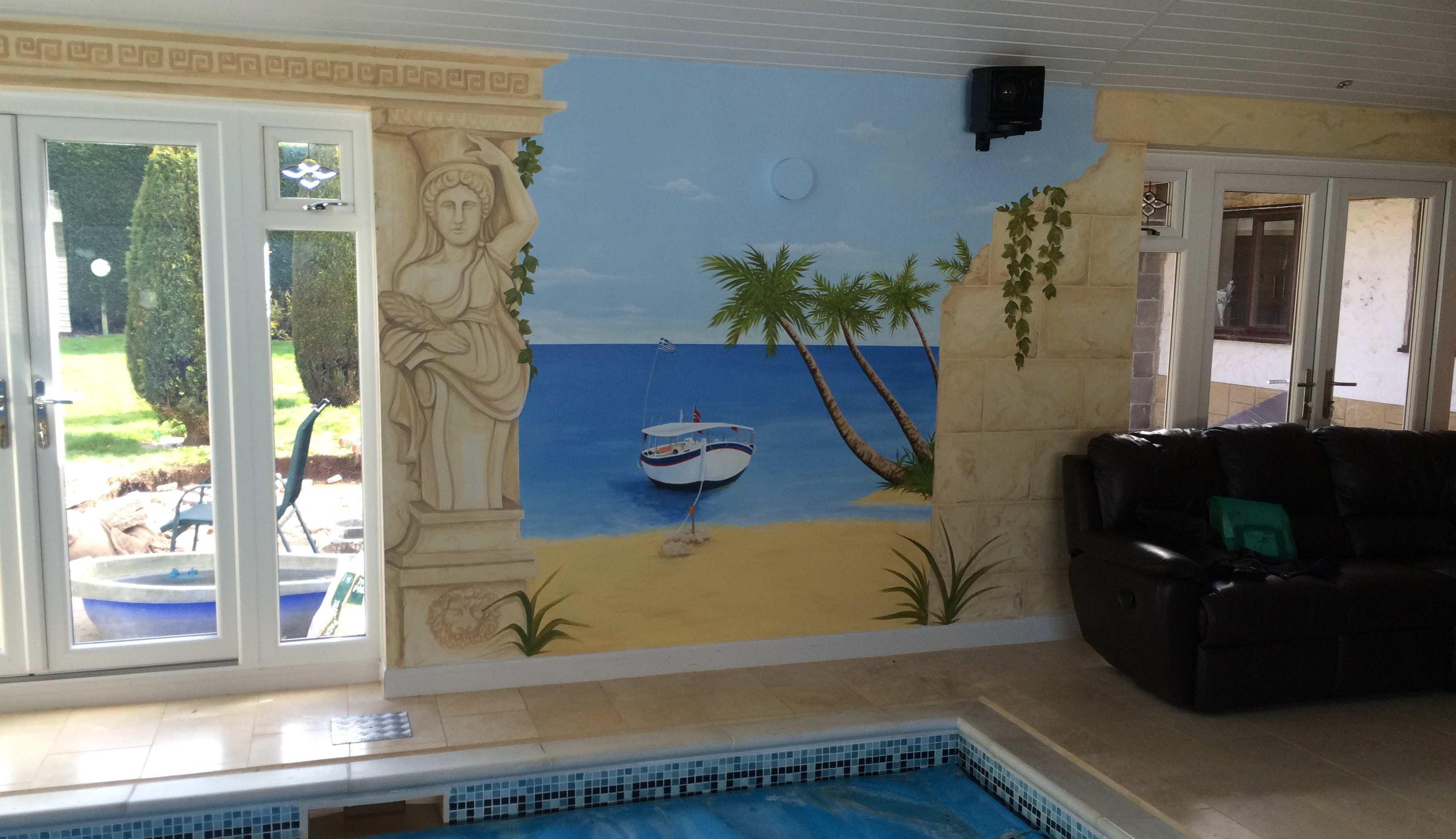 Trompe L Oeil Wall Murals   Swimming Pool Mural 4