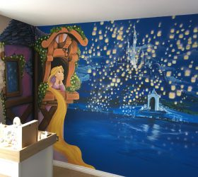 Tangled Mural, Tangled Wall Art,